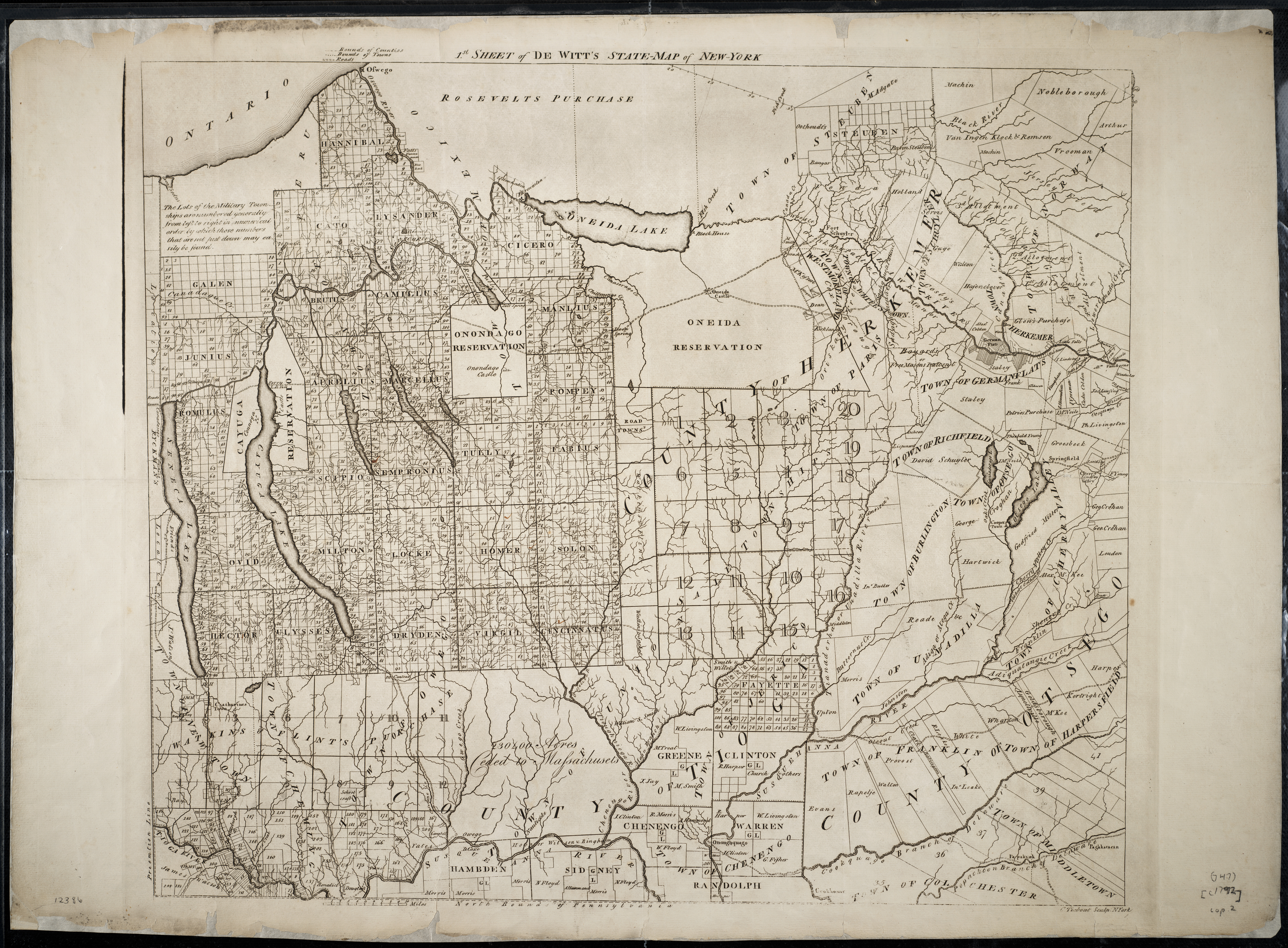 Cayuga County Nygenweb Project Map Page