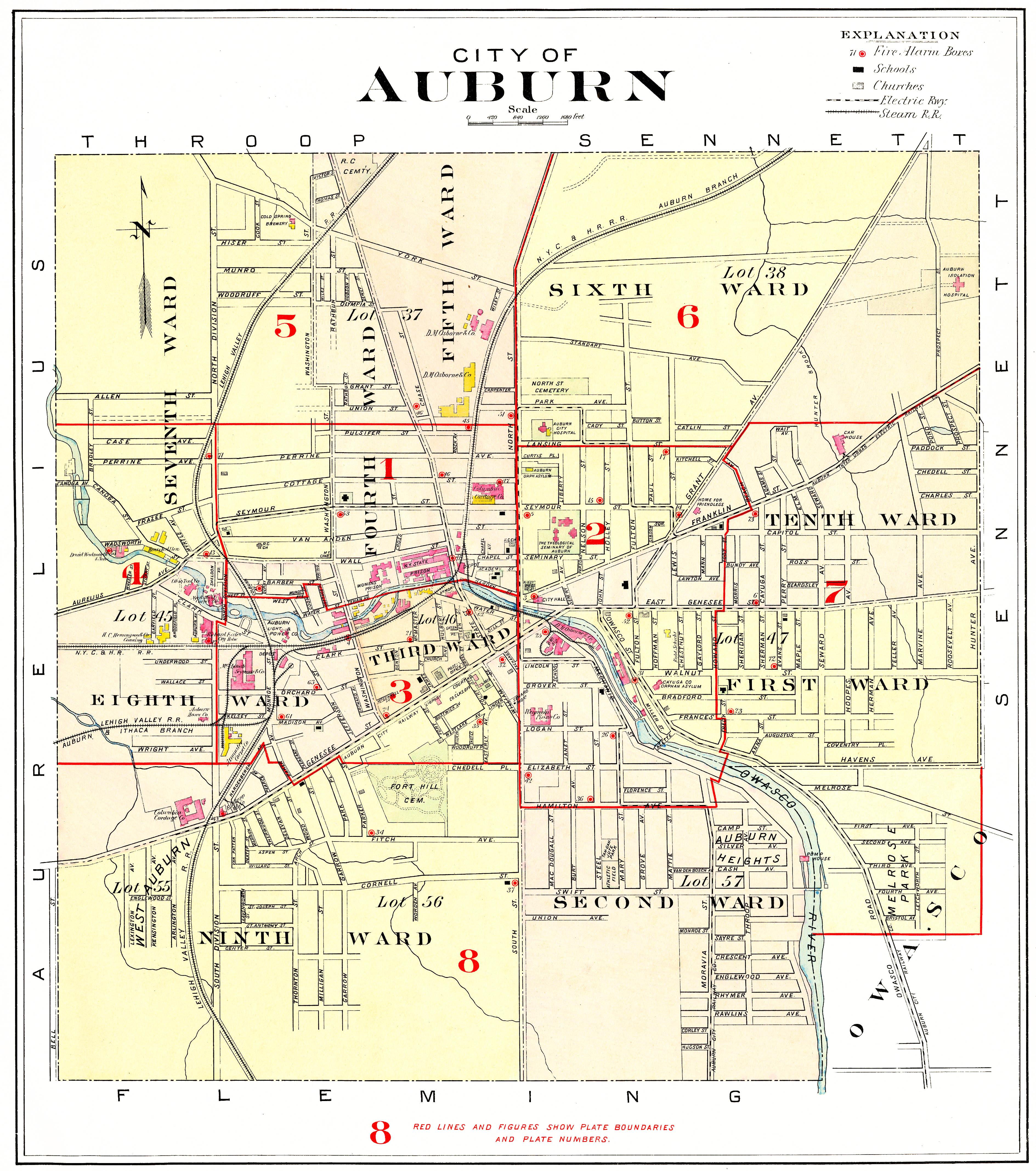 1904 Cayuga County NY Atlas Maps